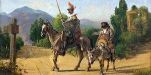 Wilhelm Marstrand, Don Quixote og Sancho Panza ved en skillevej,