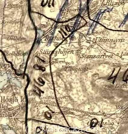 Gammal karta Danholn