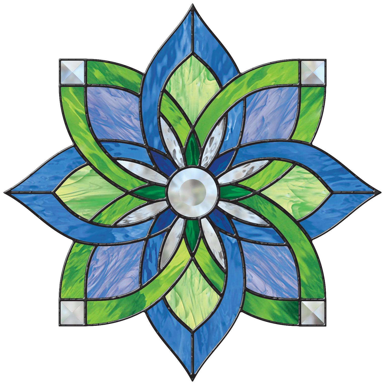 Free Stained Glass Pattern 3076 Interlocking Star P3076