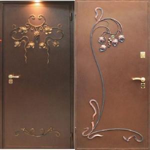 металлические двери +с ковкой