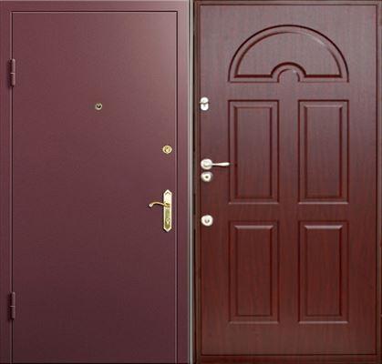 дверь стальная с панелью мдф