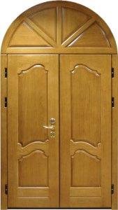 металлическая дверь с аркой