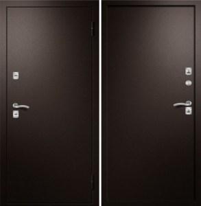 двери силенные в двойном металле отделка напыление