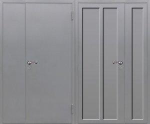 дверь техническая двупольная нитропокрас под заказ