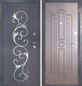 входные двери в порошке+ковка заводские