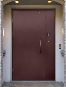 металлические двери в подъезд с домофоном под заказ Москва