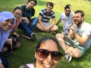 Summer 2015, with Shar and Dan from the Bailey lab.