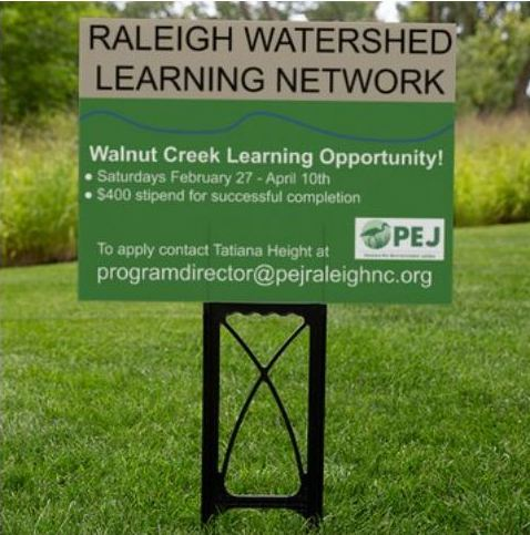 PEJ Raleigh Watershed Learning Network