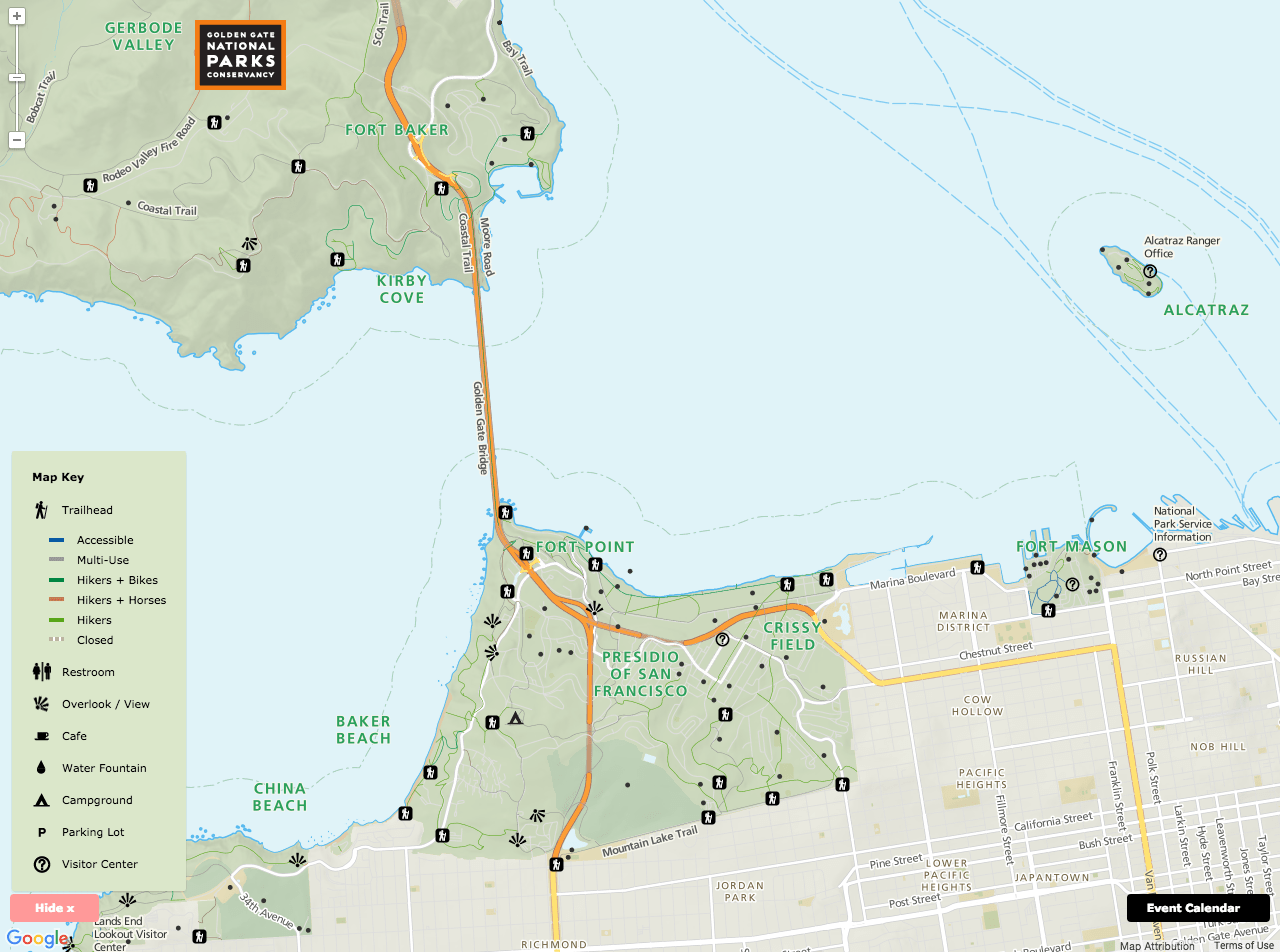 Golden Gate Recreation Area Map   Stamen Design gallery
