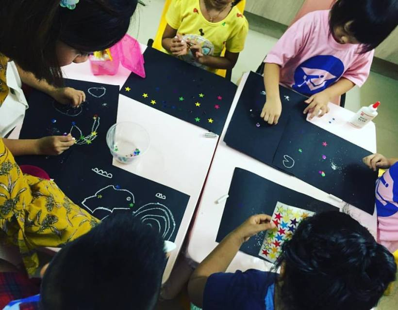 preschool at marsiling - pasting