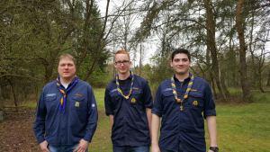 Neue Stammesführung: (von links) Jürgen Divivier, Nils Rossel, Markus Himmerlich
