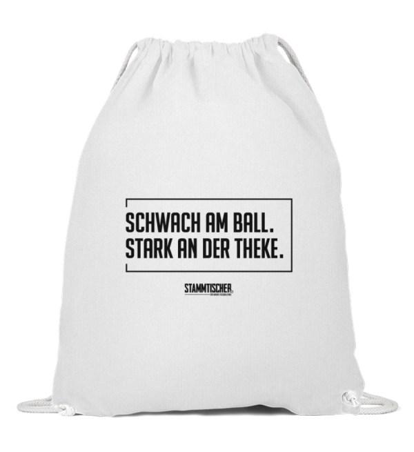 """""""Schwach am Ball. Stark an der Theke.""""B - Baumwoll Gymsac-3"""