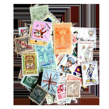 100 Different Macau Postage Stamps