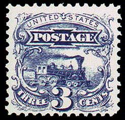 3¢ Locomotive - ultramarine