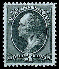 3¢ Washington - green
