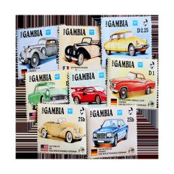 1986 Gambia Classic Cars Postage Stamps