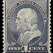 1¢ Franklin - ultramarine