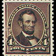 4¢ Lincoln - dark brown