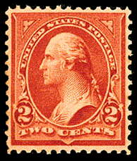 2¢ Washington Type III - red