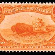 4¢ Indian Hunting Buffalo - orange