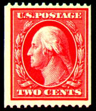 2¢ Washington -carmine