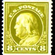 8¢ Franklin - olive green