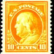10¢ Franklin - orange yellow