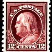 12¢ Franklin - claret brown