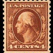 4¢ Washington - orange Brown