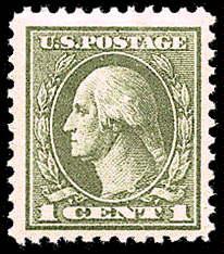 1¢ Washington - gray green