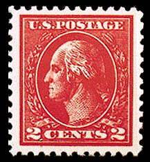2¢ Washington Type VII - carmine