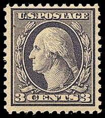 3¢ Washington Type III - violet
