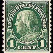1¢ Franklin (1923) - deep green
