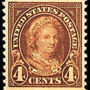 4¢ Martha Washington (1923) - yellow brown