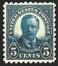 5¢ Roosevelt (1925) - blue
