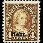 4¢ Martha Washington - yellow brown