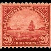 20¢ Golden Gate - carmine rose