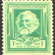 1¢ Henry W. Longfellow