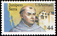 United States Airmail Stamps - 1983 - 1989 - 44¢ Juniper Serra (1985)