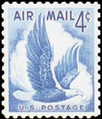 United States Airmail Stamps - 1954 - 4¢ Eagle in Flight