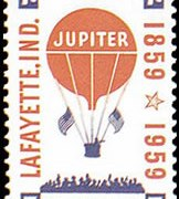 "United States Airmail Stamps - 1959 Commemoratives - 7¢ Balloon ""Jupiter&quote;"