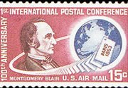United States Airmail Stamps - 1963 -1964 - 15¢ Montgomery Blair