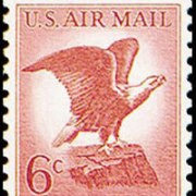 United States Airmail Stamps - 1963 -1964 - 6¢ Bald Eagle