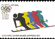 United States Airmail Stamps - 1972 - 11¢ Olympic Games