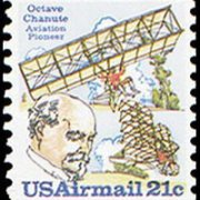 United States Airmail Stamps - 1979 - 21¢ Chanute & 2 Planes