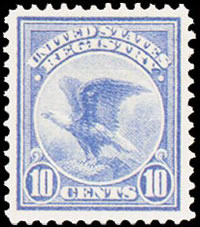 United States Registration Stamp - 1911 - 10¢ ultramarine