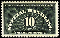 United States Special Handling Stamps - 1925 - 1929 - 10¢ yellow green