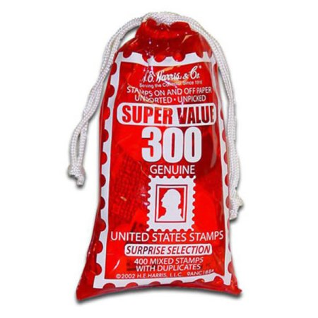 United States Stamp Bag - 300 mixed collectible stamps