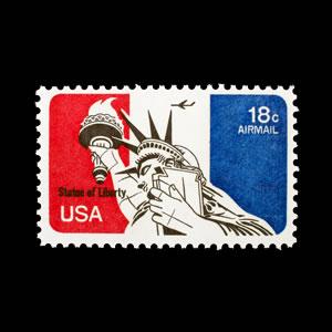 1974 U.S. Airmail Stamp #C87