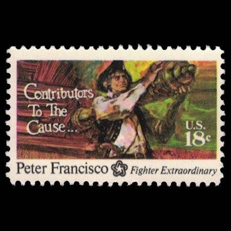 U.S. #1562 - Peter Francisco 10 Cent Stamp.